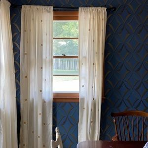 THRESHOLD pair cream curtain panels (2 curtains)